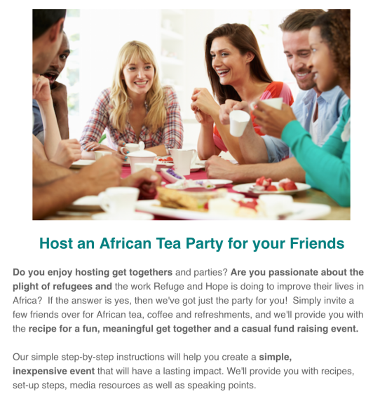 Refuge and Hope International's African Tea Party