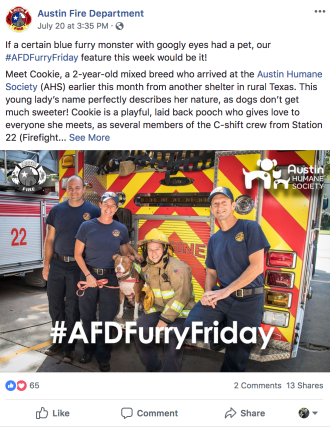 #AFDFurryFriday cross promotion